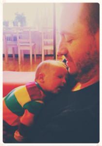 Chris and baby Sage!
